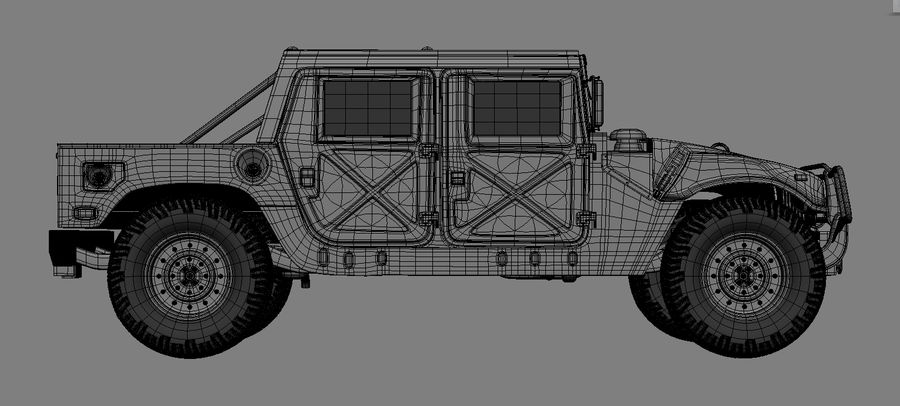 hummer royalty-free 3d model - Preview no. 3