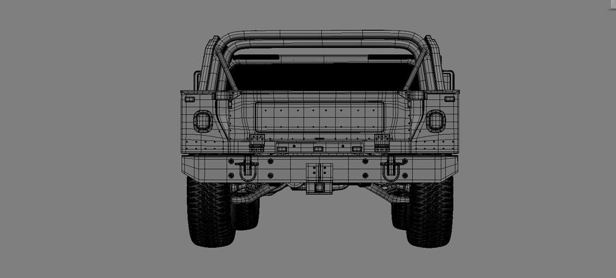 hummer royalty-free 3d model - Preview no. 4