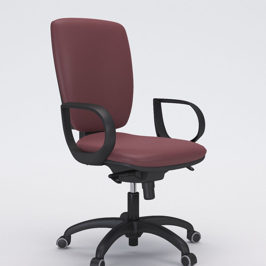 Collezione Office Chair 3 royalty-free 3d model - Preview no. 3
