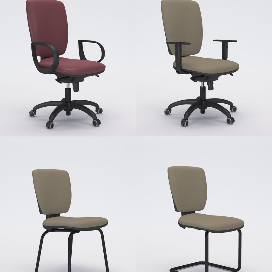 Collezione Office Chair 3 royalty-free 3d model - Preview no. 1