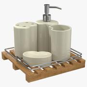 Conjunto de modelos 3D de acessórios de banheiro 3d model