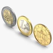 German Euro Coins 3D Models Collection 3d model