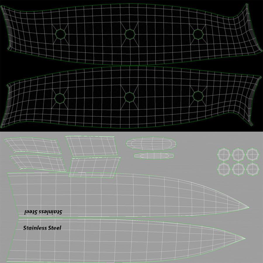 刀3D模型集合 royalty-free 3d model - Preview no. 47