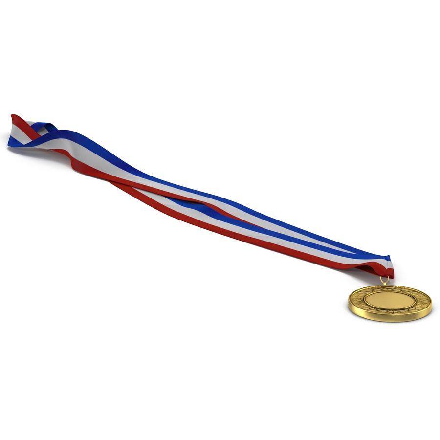 Award Medal 2 Gold 3D Model royalty-free 3d model - Preview no. 3
