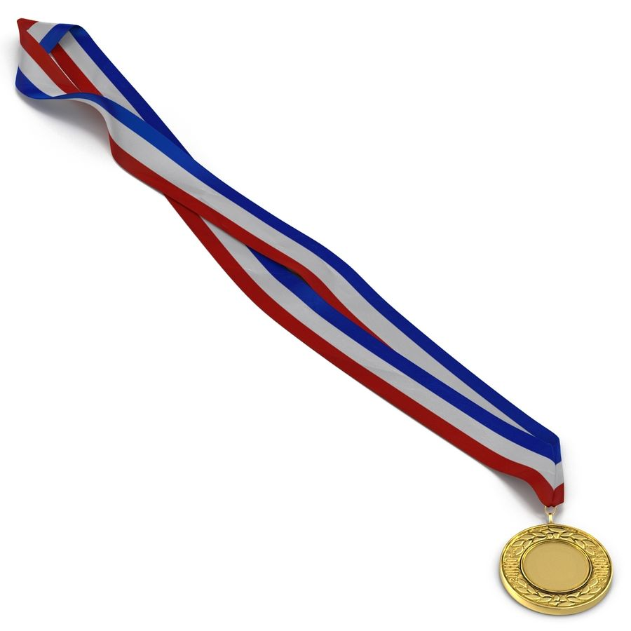 Award Medal 2 Gold 3D Model royalty-free 3d model - Preview no. 7