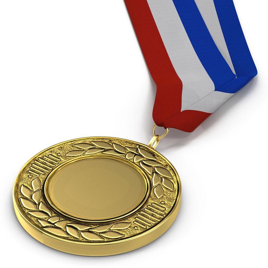 Award Medal 2 Gold 3D Model royalty-free 3d model - Preview no. 9