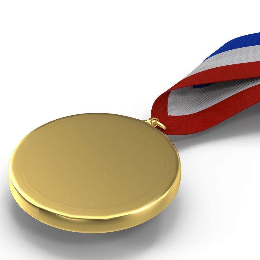 Award Medal 2 Gold 3D Model royalty-free 3d model - Preview no. 10