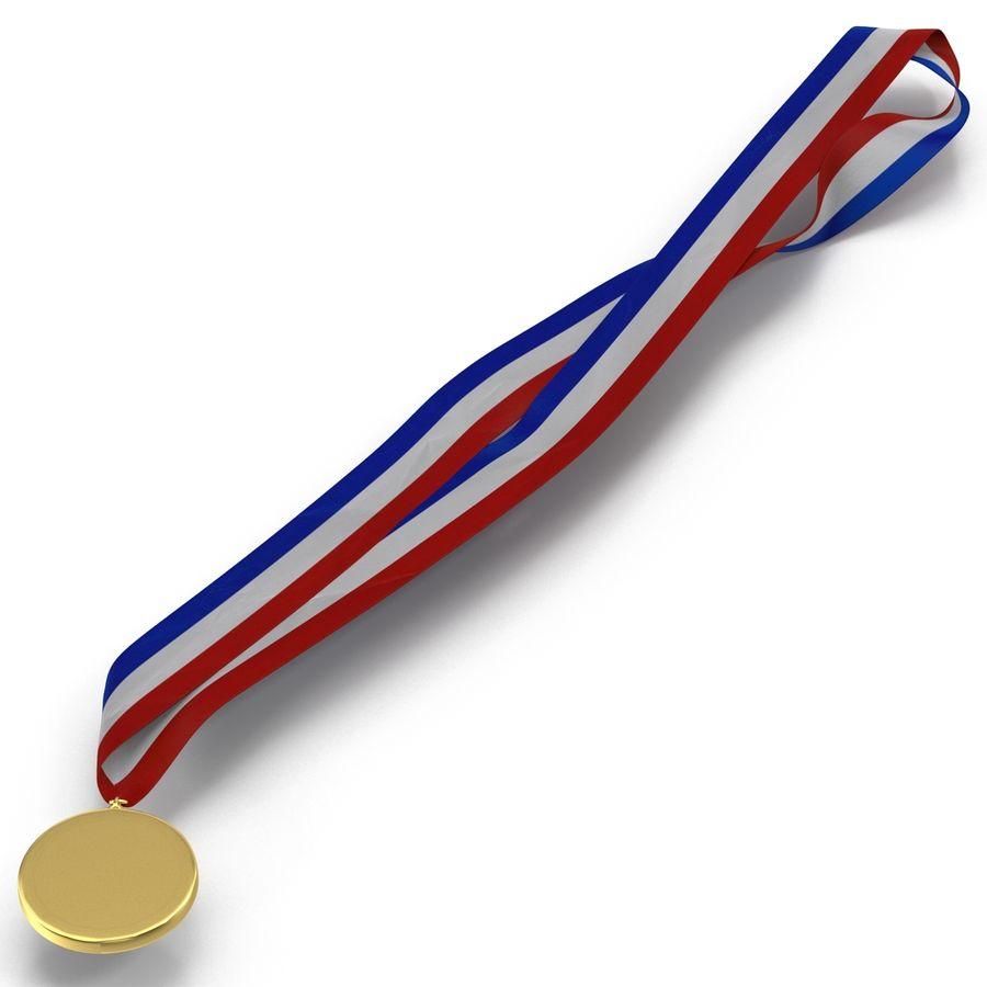 Award Medal 2 Gold 3D Model royalty-free 3d model - Preview no. 8