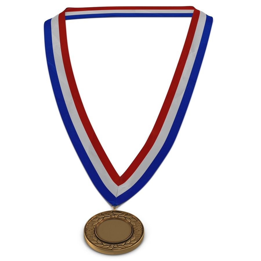 Award Medal Bronze 3D Model royalty-free 3d model - Preview no. 5