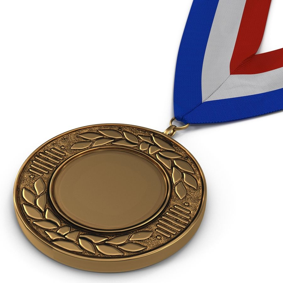 Award Medal Bronze 3D Model royalty-free 3d model - Preview no. 7