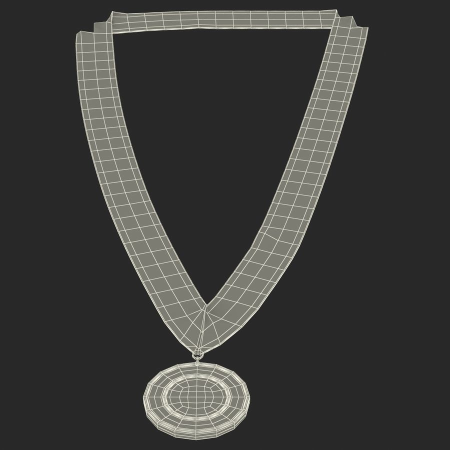 Award Medal Bronze 3D Model royalty-free 3d model - Preview no. 14