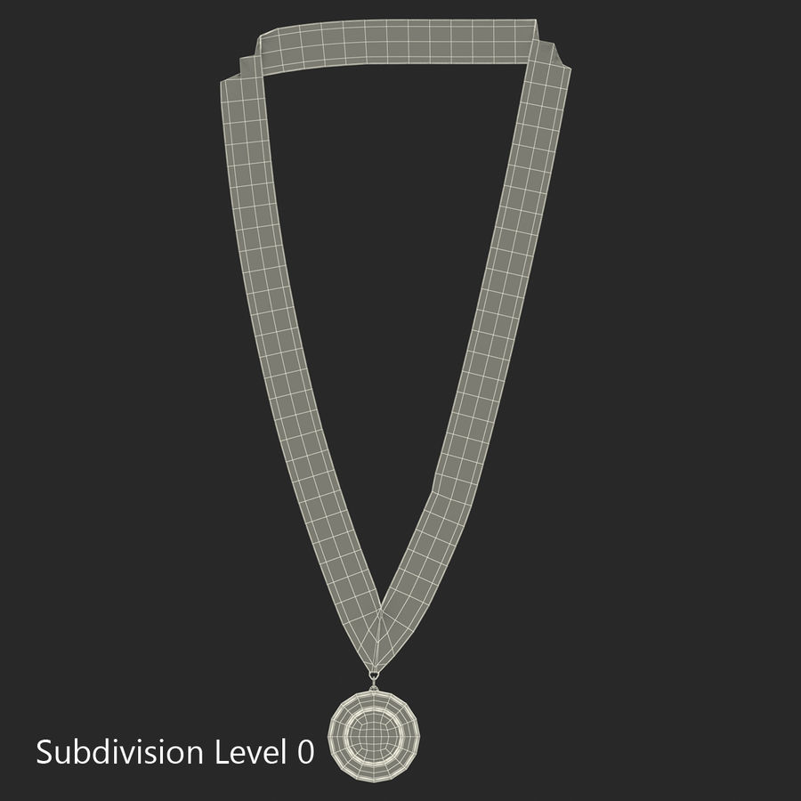 Award Medal Bronze 3D Model royalty-free 3d model - Preview no. 9