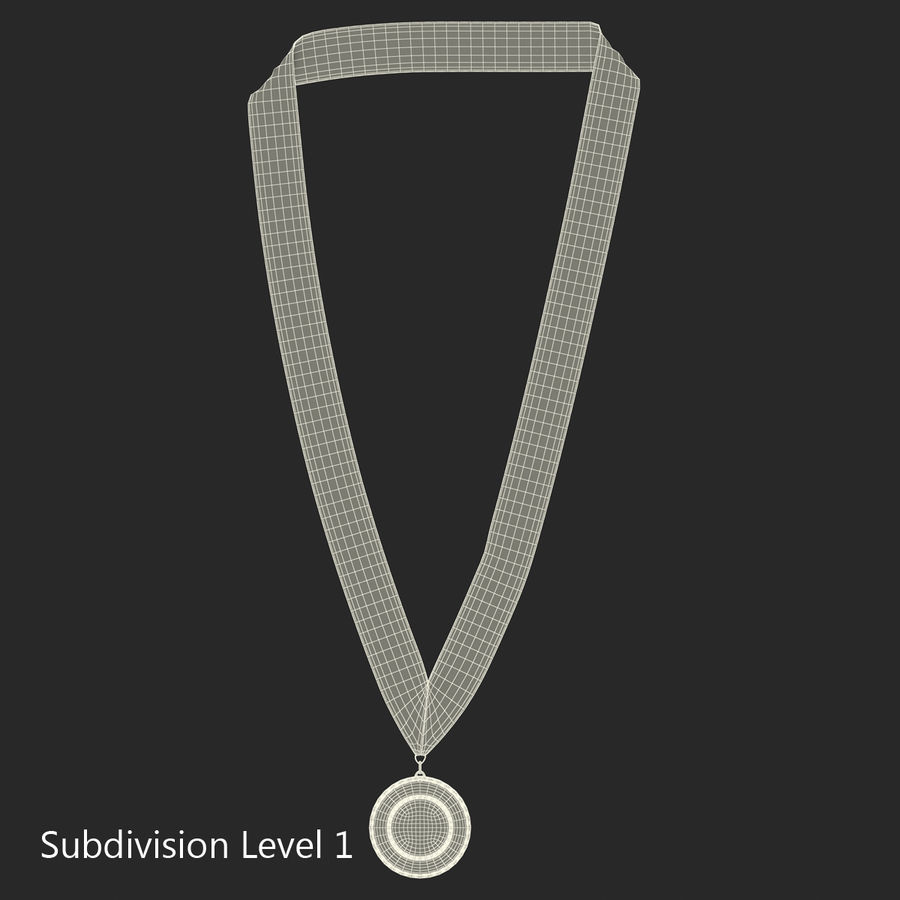 Award Medal Bronze 3D Model royalty-free 3d model - Preview no. 10