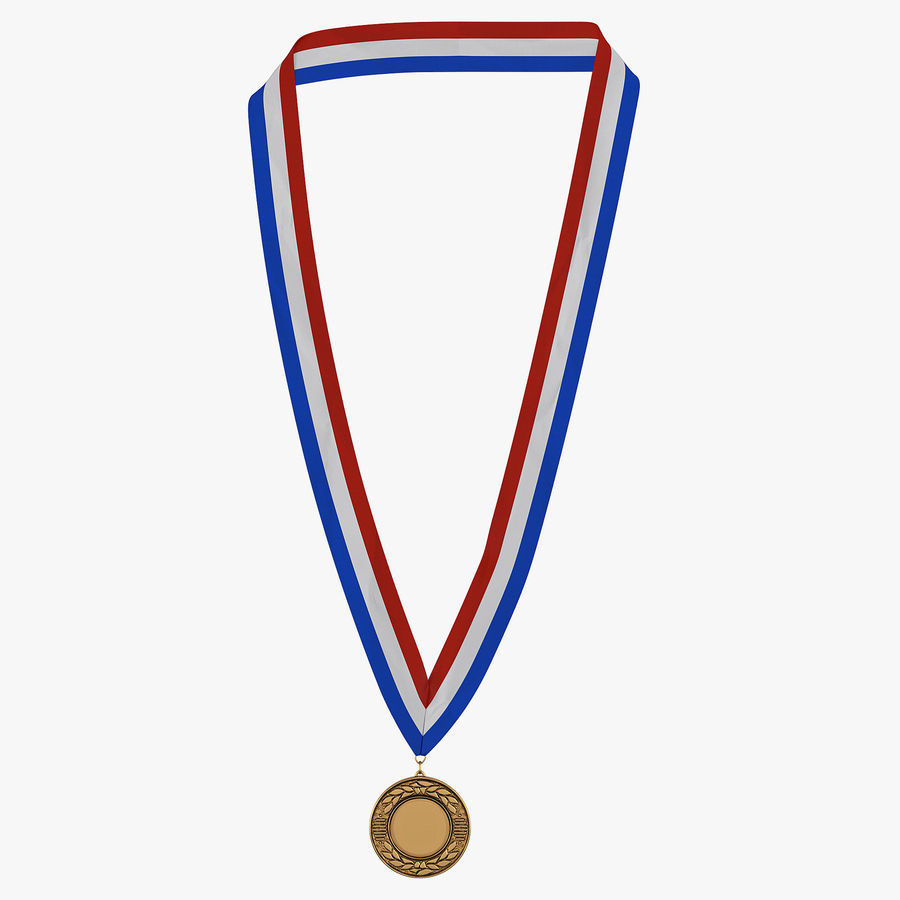 Award Medal Bronze 3D Model royalty-free 3d model - Preview no. 1
