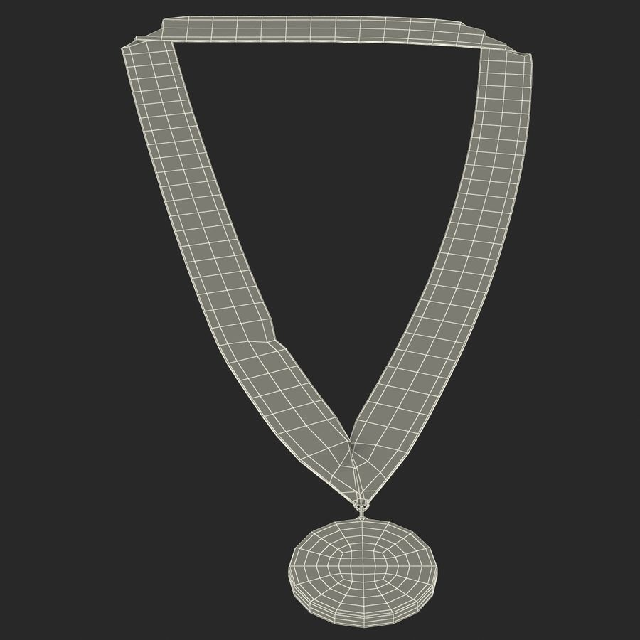 Award Medal Bronze 3D Model royalty-free 3d model - Preview no. 15