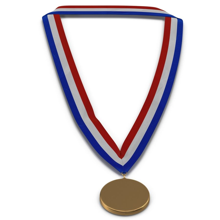 Award Medal Bronze 3D Model royalty-free 3d model - Preview no. 6