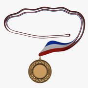 Award Medal 4 Bronze 3D Model 3d model