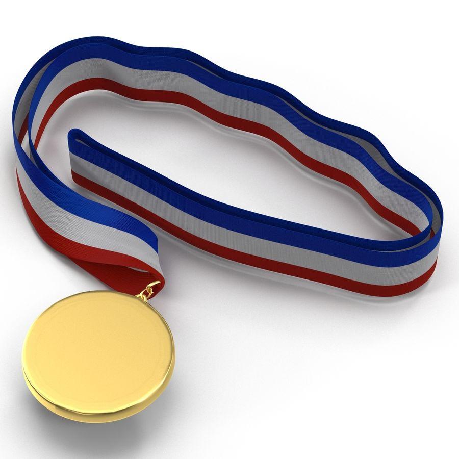 Award Medal 4 Gold 3D Model royalty-free 3d model - Preview no. 4