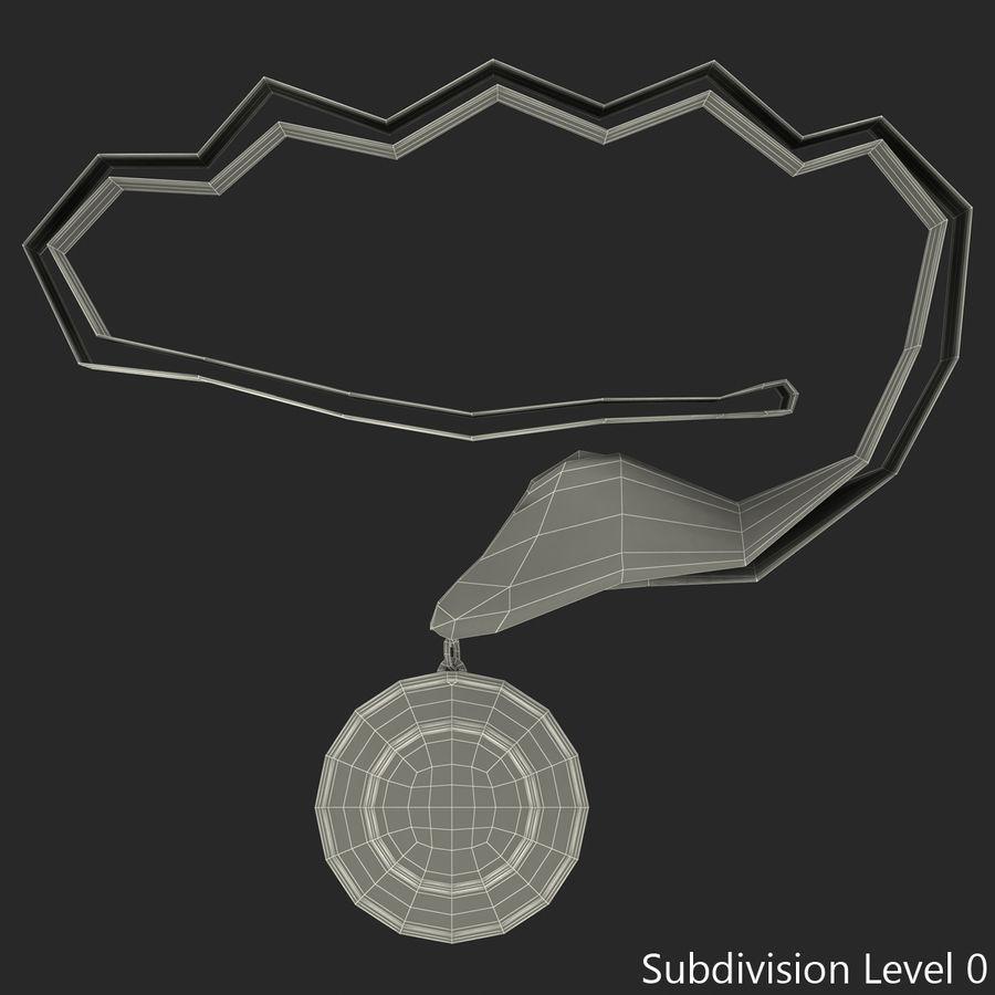 Award Medal 4 Gold 3D Model royalty-free 3d model - Preview no. 9