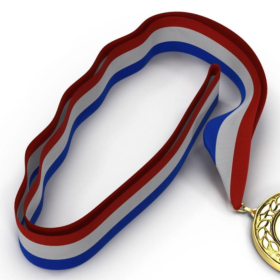 Award Medal 4 Gold 3D Model royalty-free 3d model - Preview no. 8