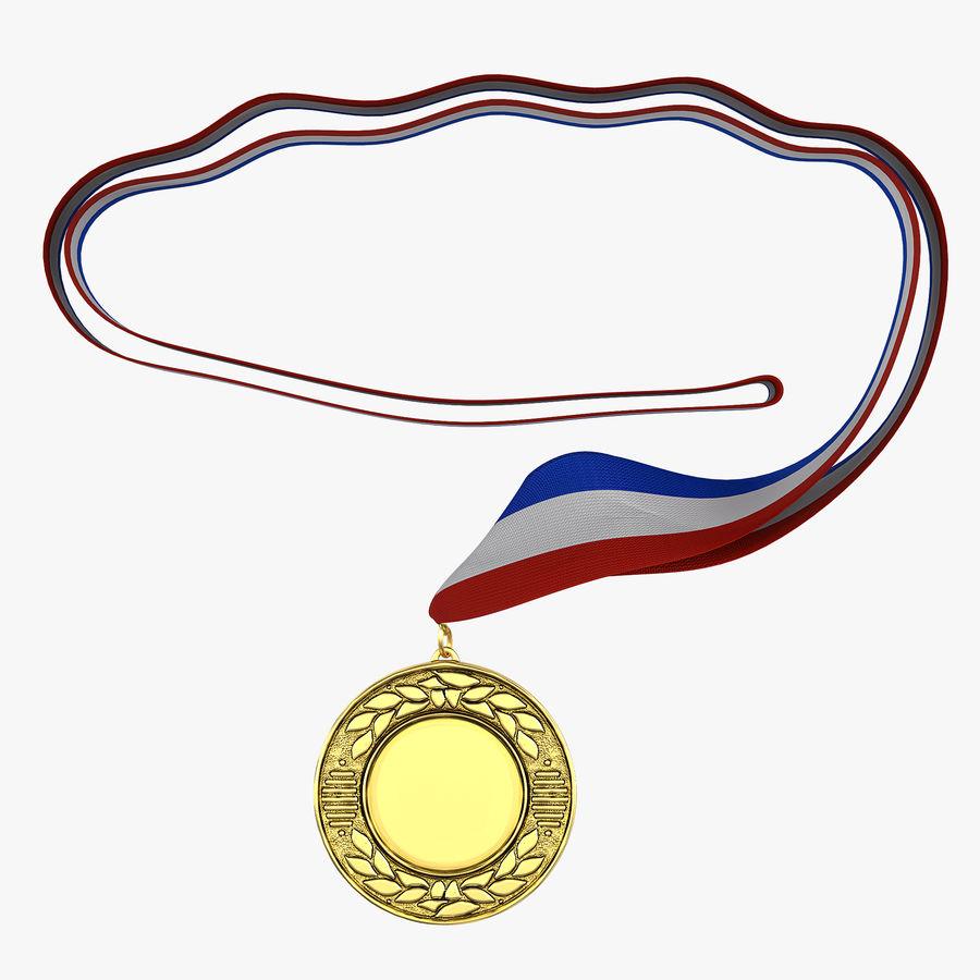 Award Medal 4 Gold 3D Model royalty-free 3d model - Preview no. 1