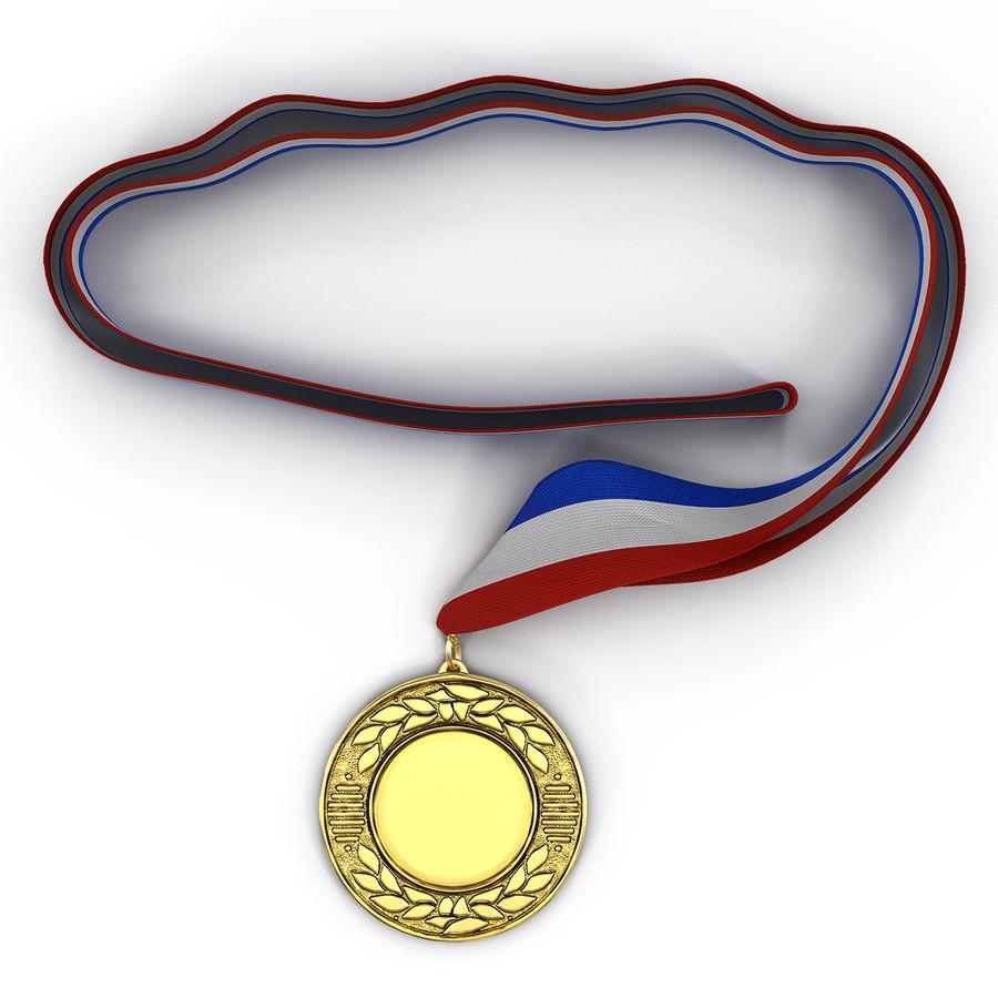 Award Medal 4 Gold 3D Model royalty-free 3d model - Preview no. 2