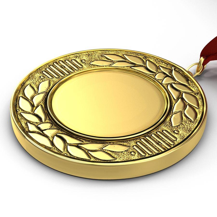 Award Medal 4 Gold 3D Model royalty-free 3d model - Preview no. 7