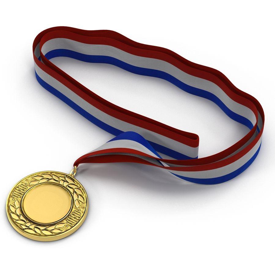 Award Medal 4 Gold 3D Model royalty-free 3d model - Preview no. 3