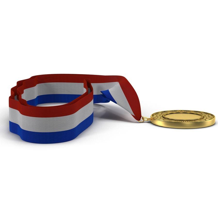 Award Medal 4 Gold 3D Model royalty-free 3d model - Preview no. 6