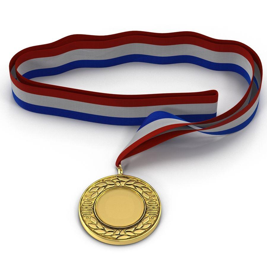 Award Medal 4 Gold 3D Model royalty-free 3d model - Preview no. 5
