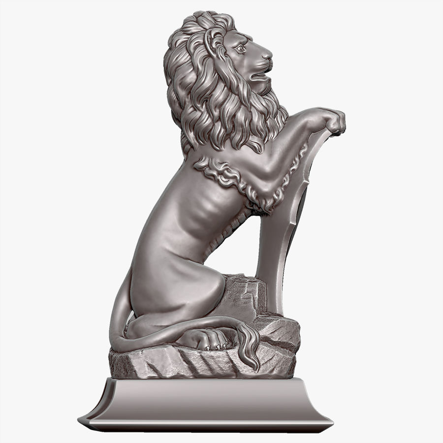 Lion Sculpture royalty-free 3d model - Preview no. 1