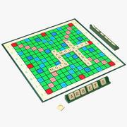 Scrabble Fransızca Sürüm 3d model