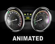 Prędkościomierz + guma 3d model