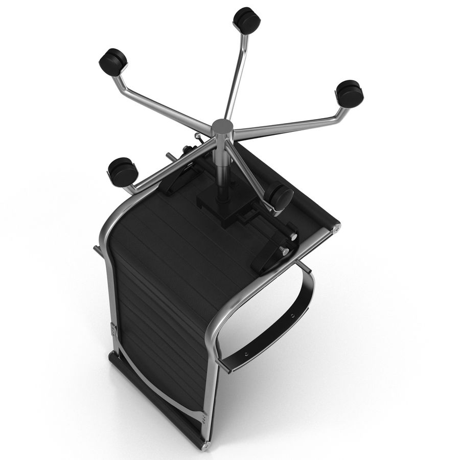 Office Chair 4 3D Model royalty-free 3d model - Preview no. 6