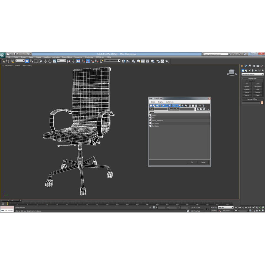 Office Chair 4 3D Model royalty-free 3d model - Preview no. 15