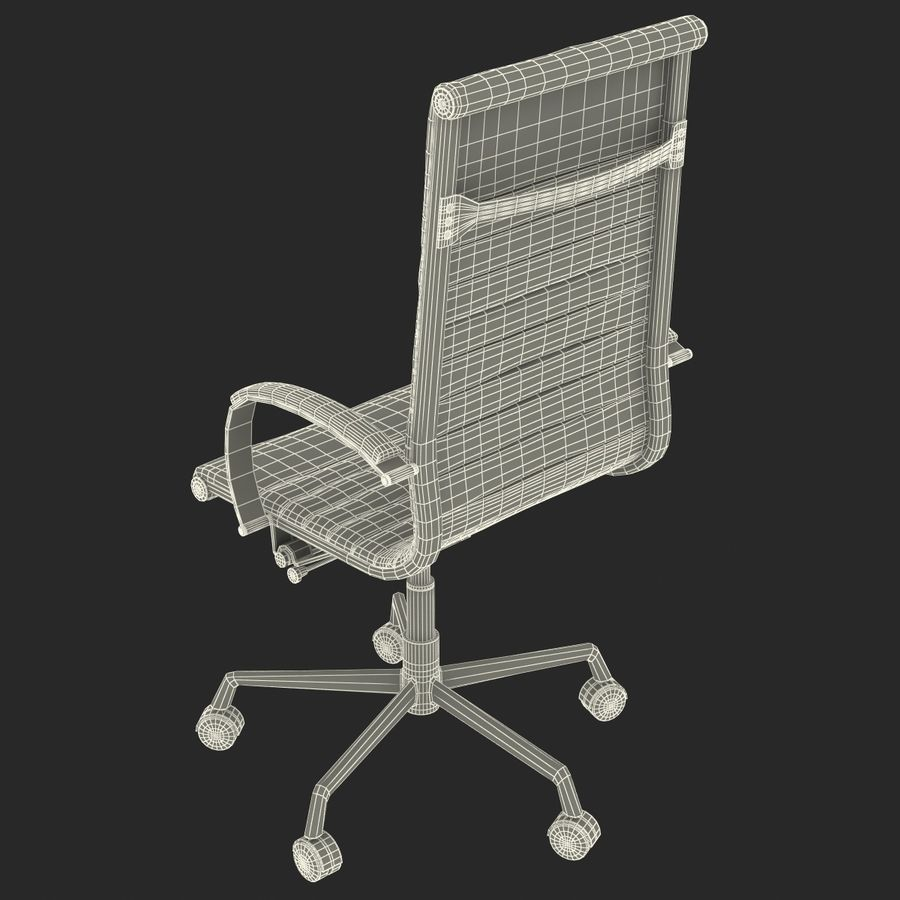 Office Chair 4 3D Model royalty-free 3d model - Preview no. 17