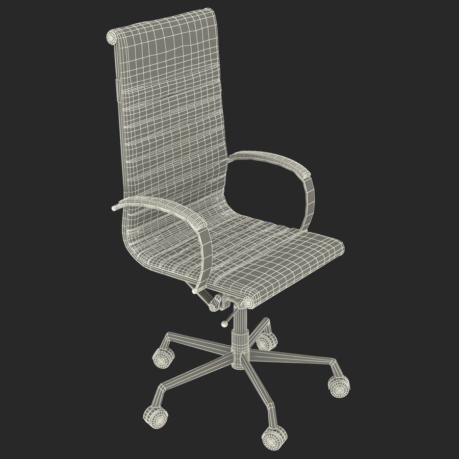 Office Chair 4 3D Model royalty-free 3d model - Preview no. 16