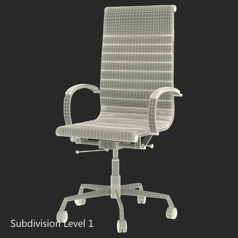 Office Chair 4 3D Model royalty-free 3d model - Preview no. 12
