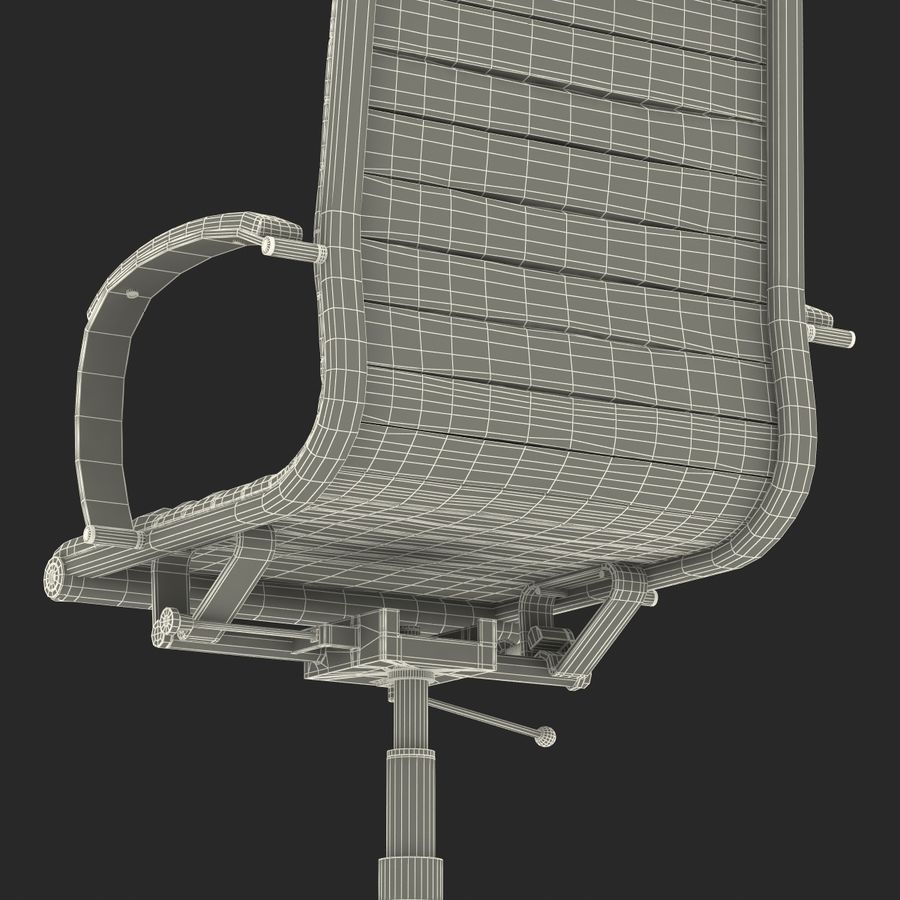Office Chair 4 3D Model royalty-free 3d model - Preview no. 20