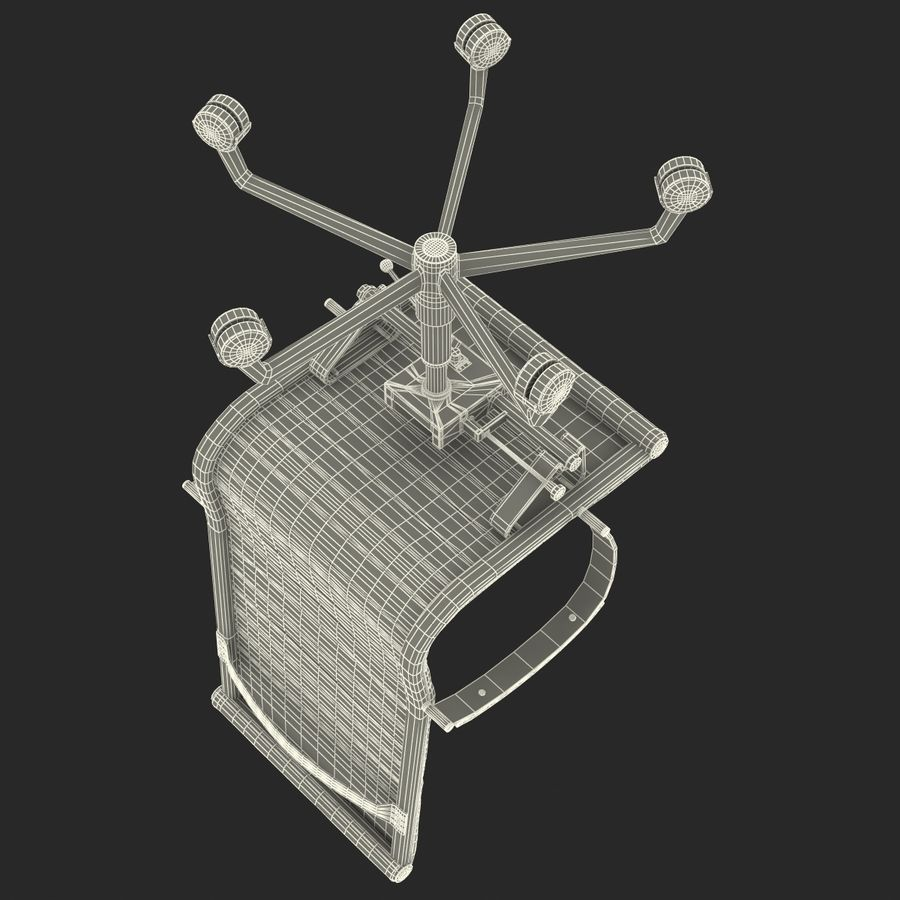 Office Chair 4 3D Model royalty-free 3d model - Preview no. 18