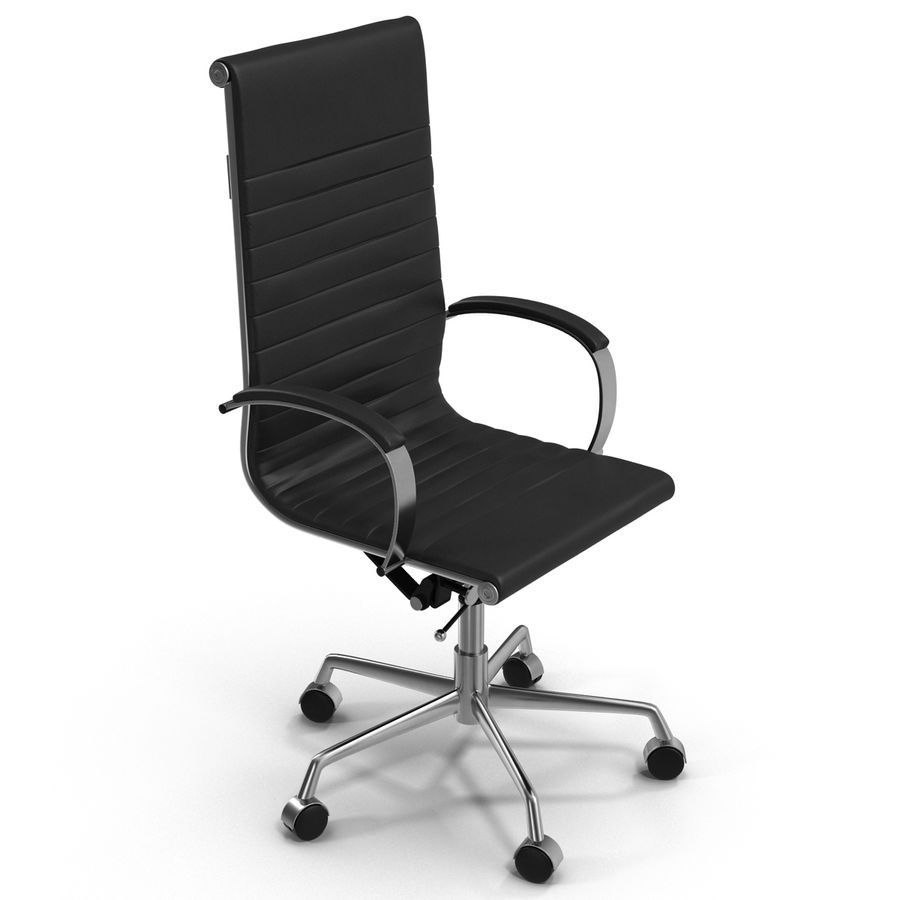 Office Chair 4 3D Model royalty-free 3d model - Preview no. 3