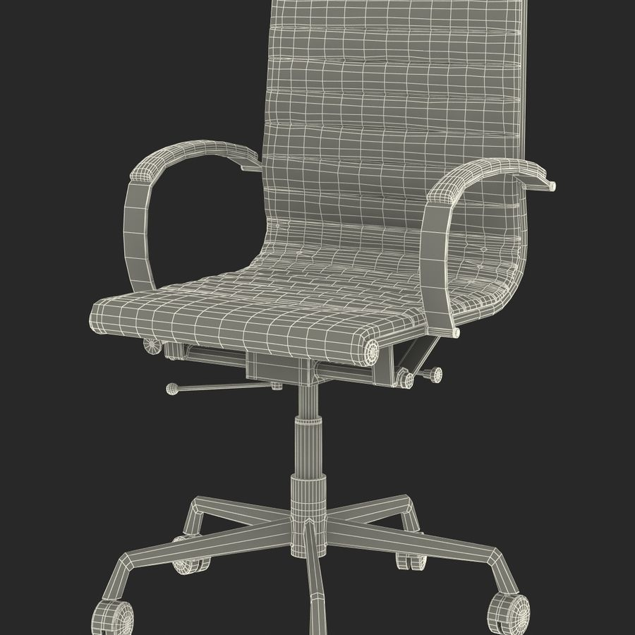 Office Chair 4 3D Model royalty-free 3d model - Preview no. 19