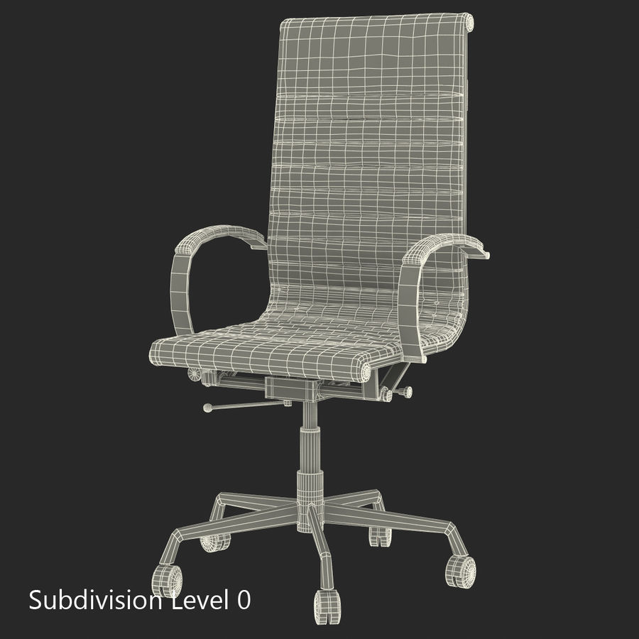 Office Chair 4 3D Model royalty-free 3d model - Preview no. 11