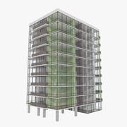 Wieża Zwesh One z teksturowanym wnętrzem 3d model