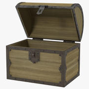Old Wooden Chest 2 3d model