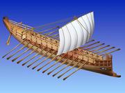 bireme greek ship 3d model