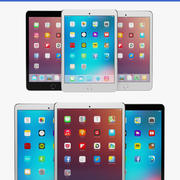 Apple iPad air 2 and iPad mini 3 3d model