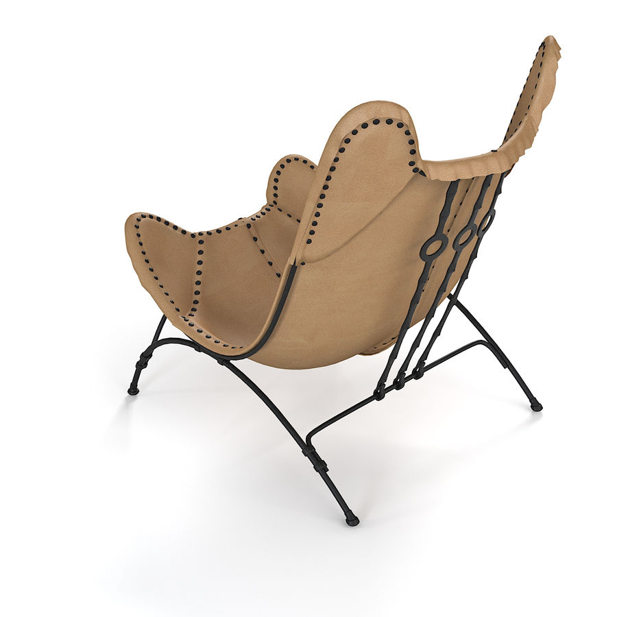 Ralph Lauren Nuova sedia da campeggio Safari royalty-free 3d model - Preview no. 4