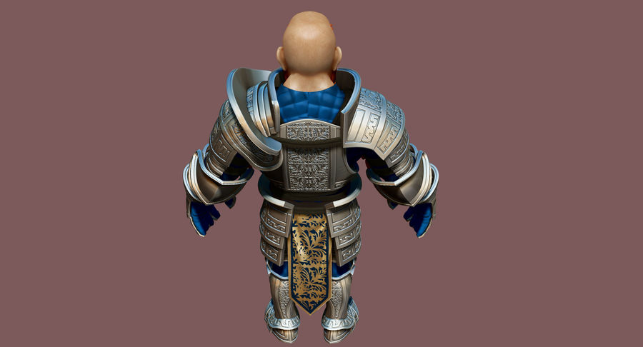 Dwarf Knight D2K3 royalty-free 3d model - Preview no. 21