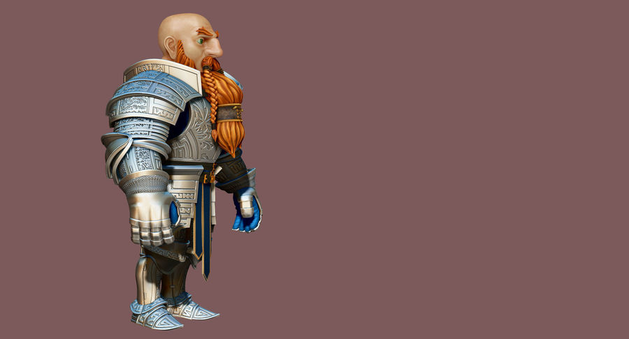 Dwarf Knight D2K3 royalty-free 3d model - Preview no. 18